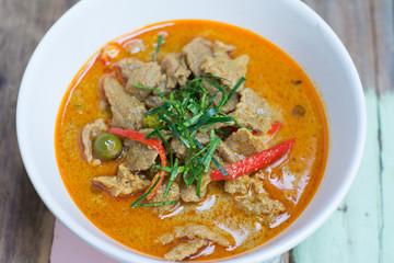 savory curry with pork (Thai food name Panang)