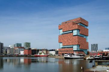 Photo sur Aluminium Antwerp Museum aan de Stroom (MAS) in Antwerp