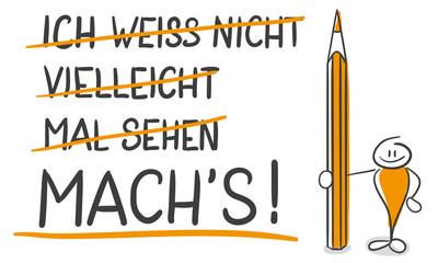 Strichmännchen Serie Pumpy / Mach's!