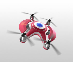 Wine red drone for air race. Original design.