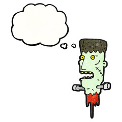 frankenstein monster head cartoon