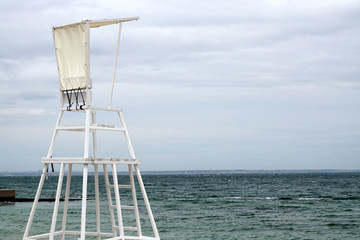 Rescue tower on the beach