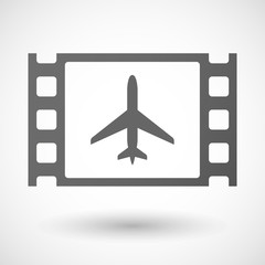 35mm film frame with a plane