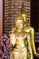 Ancient Buddha in Wat Yaichaimongkol
