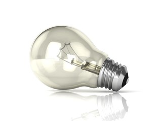 Light bulb. 3D render illustration isolated on white background