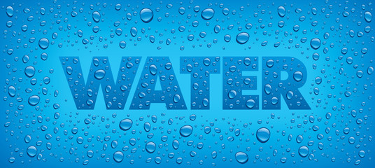 water backgrounds with text and many drops