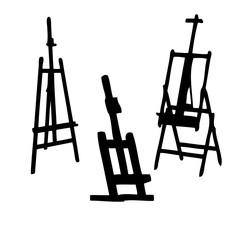 Easel vector silhouette