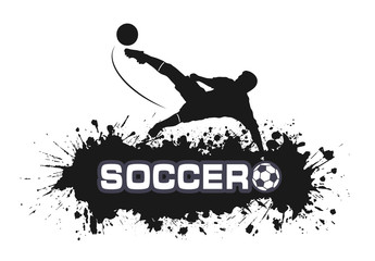 Soccer match in grunge style