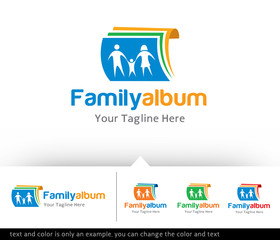 Family Album Logo Design Template
