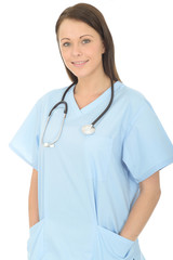 Portrait Of A Beautiful Young Female Doctor Confident and Relaxed