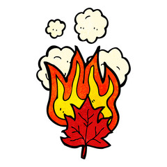 burning leaf cartoon