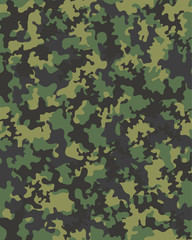 Camouflage seamless pattern, vector