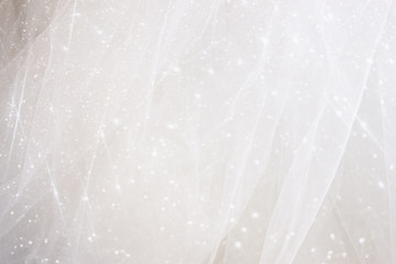 Vintage tulle chiffon texture background with glitter overlay