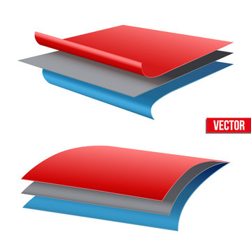 Technical illustration of a three-layer fabric.