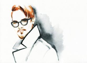 Fashion portrait. young beautiful man.
