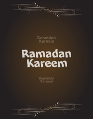 Ramadan Kareem. lettering composition of muslim holy month.