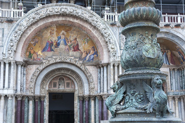 Fototapete - Details of St Mark's Basilica in Venice, Italy