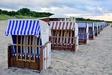 Plaża nad morzem bałtyckim w Świnoujściu