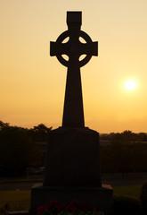 Celtic cross in silhouette