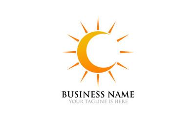 Crescent Moon and Sun Logo