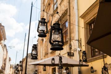 Decorative lanterns on the street