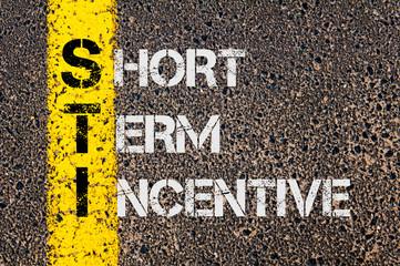 Business Acronym STI as Short Term Incentive