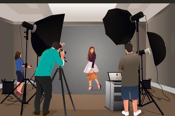 Photographer Shooting Model