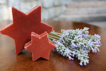 soap star-shaped and lavender