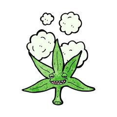 marijuana leaf cartoon character