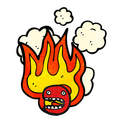 flaming emoticon face symbol