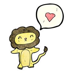 cartoon lion in love