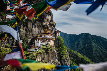 Tiger's nest monastery, Bhutan Wall mural