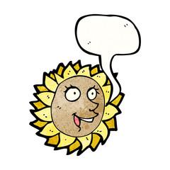 cartoon talking sunflower
