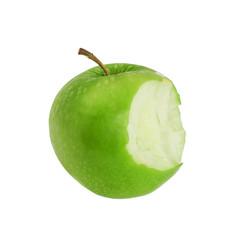 Bite green apple