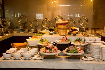 international buffet restaurant at hotel.
