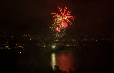 Laguna Beach fireworks on the fourth of July celebration