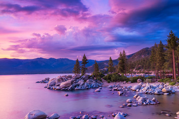 Wall Mural - Sunset over Lake Tahoe