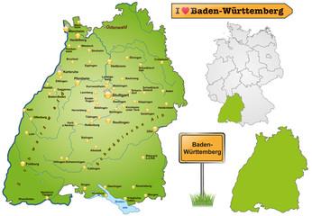 Karte von Baden-Wuerttemberg