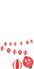 提灯、祭り、祭、夏、お祭り、バックグラウンド、赤、白
