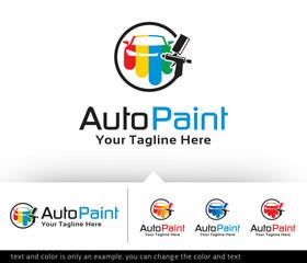 Auto Paint Logo Design Template Vector