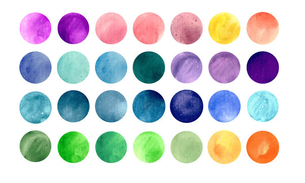 Watercolour circle textures. Mega-useful pack for you to drag