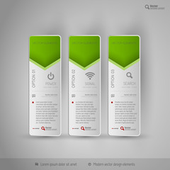 Design elements, infographics, layout and web pages. Modern symb