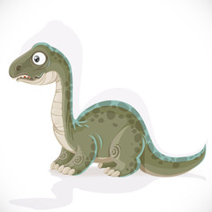Little Brontosaurus isolated on white background