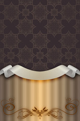 Vintage background with decorative floral patterns.