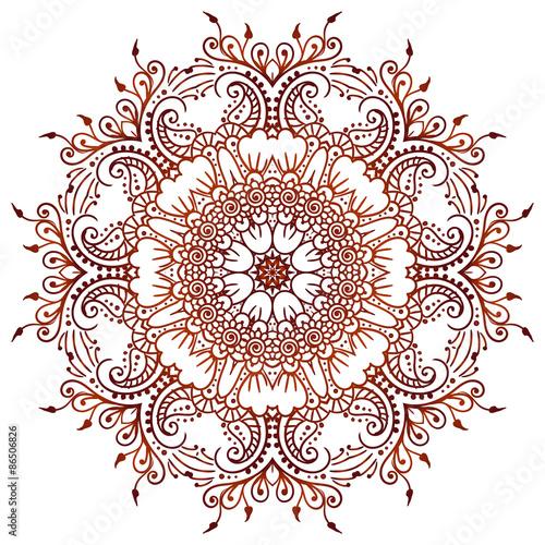 e7749130d Circular floral ornament Mehndi Henna Tattoo Mandala, Yantra