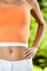 Perfectly shaped female stomach