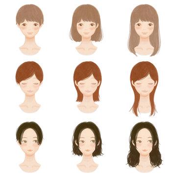 女の子の髪型 Hairstyle Collection