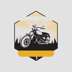 Motorcycle club label. Vector
