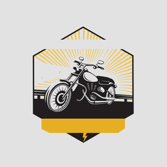 Motorcycle club label. Vector