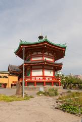 Bentendo temple (XVII c.) in Ueno park of Tokyo, Japan